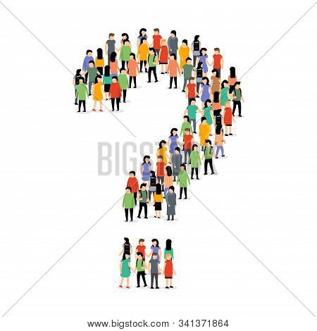 People Group Question Shape Crowd. People Question Silhouette Person