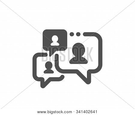 Comments Sign. Support Chat Icon. Speech Bubble Message Symbol. Classic Flat Style. Simple Support C