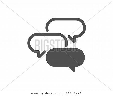 Speech Bubble Sign. Talk Bubble Icon. Chat Message Symbol. Classic Flat Style. Simple Talk Bubble Ic