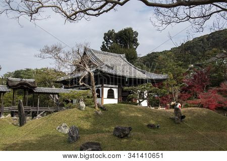 The Kangetsu-dai Bridge In The Garden (moon Viewing Pavilion) At Kodaiji Temple In Kyoto