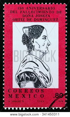 Mexico - Circa 1979: A Stamp Printed In Mexico Issued For The 150th Anniversary Of The Death Of Jose
