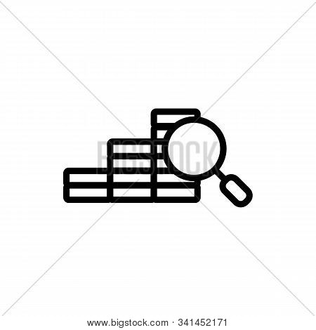 Affiliated Business Icon Vector. A Thin Line Sign. Isolated Contour Symbol Illustration