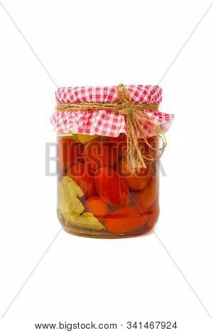 Canned Vegetables. Red Tomatoes In Brine In The Bank, Isolated