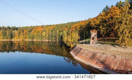 Autumn At The Dam Les Kralovstvi Near Dvur Kralove Nad Labem