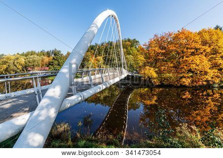 Autumn On The Jizera River In Semily