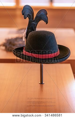 St. Magdalena, South Tyrol, Italy -  October 23, 2019: Display Of A Traditional Tyrolian Costume Hat