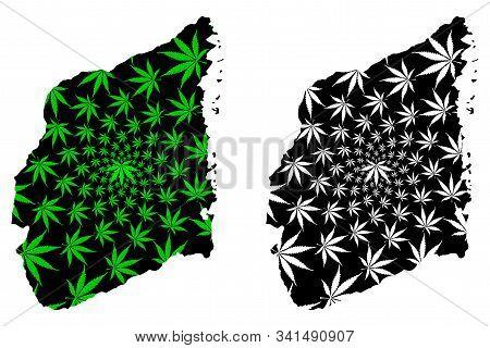 Cabo Delgado Province (provinces Of Mozambique, Republic Of Mozambique) Map Is Designed Cannabis Lea