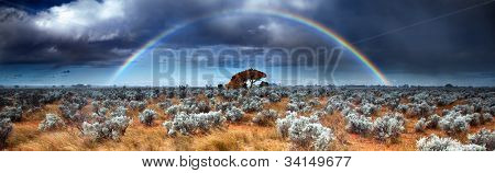 Rainbow in the Australian Desert