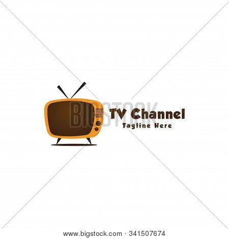 Live Streaming, Online Television, Web Tv, Simple And Clean Logo Concept, Abstract, Pictorial, Brown