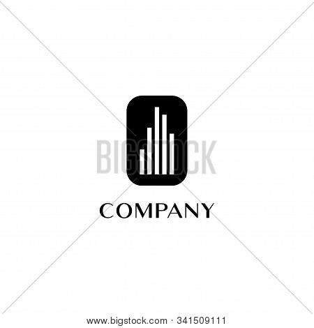 Real Estate Logo Design Template, Black Abstract Building Logo Concept, Premium Logo Design, Upmarke