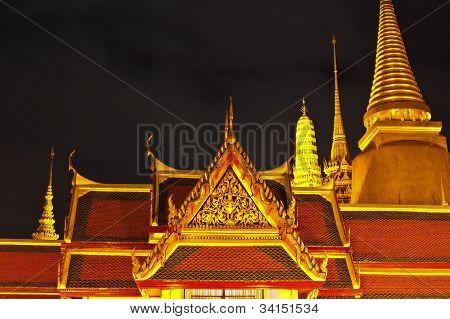 Temple Of The Emerald Buddha In Siam