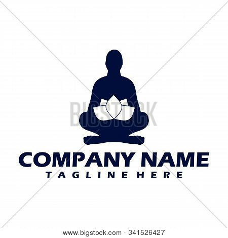 Yoga Logo Design Template. Health Care, Beauty, Spa, Relax, Meditation, Nirvana Concept Icon. Templa