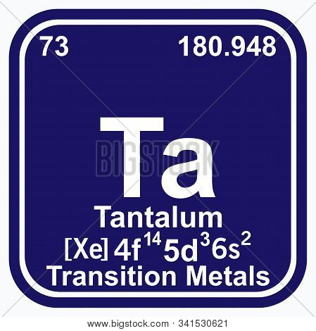 Tantalum Periodic Table Of The Elements Vector Illustration Eps 10.