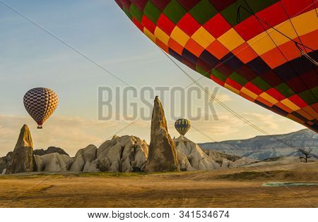 Turkey, Cappadocia, Balloon Ride Over G Reme, Incredible Geological Landscapes Aerial View