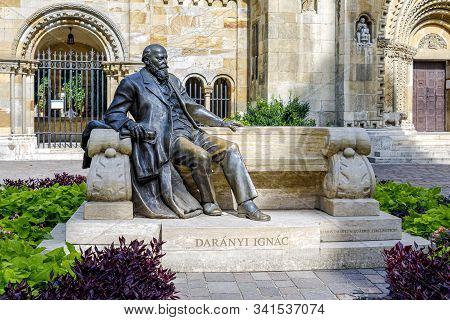 Budapest, Hungary - November 15, 2019: Statue Of The Hungarian Politician Ignac Daranyi Sitting In A