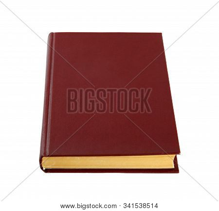 Closed Color Hardcover Book Isolated On White