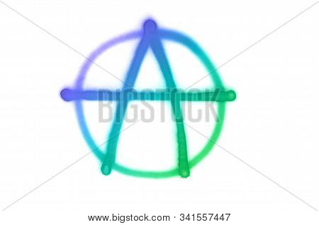 Graffiti Anarchy Sign Sprayed On White Isolated Background