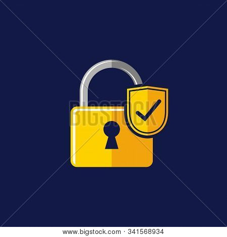 Isolated Padlock Icon Against A White Background From The Insurance Collection. Trendy Padlock Icons