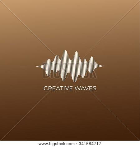 Creative Waves Liquid Sound Wave Logo Design, Audio Design Template, Musical Logo Vector, Creative W