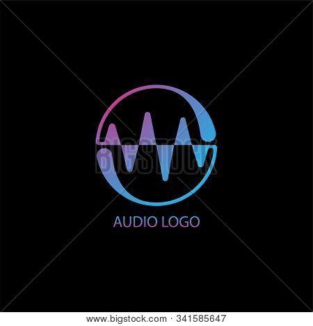 Circle Audio Wave Spectrum Visual Logo Concept, Liquid Spectrum Bar Design Vector,audio Logo Templat