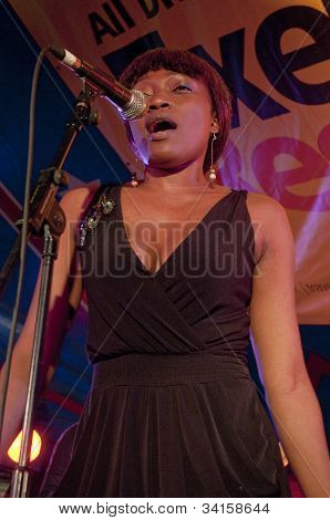 Bola Kamson From The Afro-funk Band Bronzehead Performing Live In The World Big Top