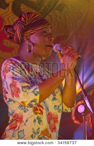 Irene Oludolapo From The Afro-funk Band Bronzehead Performing Live In The World Big Top