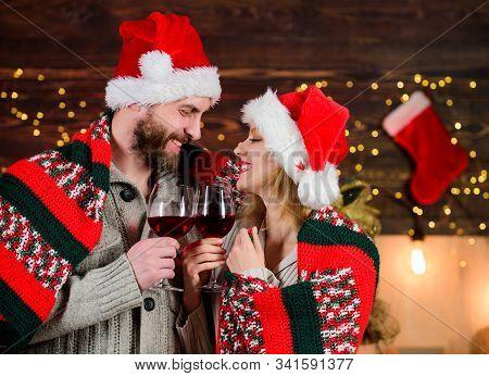 Man And Woman In Love Cuddling Enjoy Intimacy Festive Atmosphere. Romantic Evening. Romantic Couple.