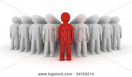 3d people icon leadership