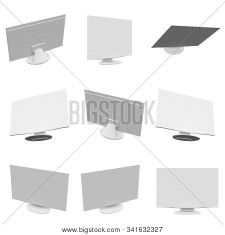 Tv  Isolated On The White Background  3d Rendering