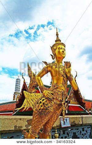 Thai sculpture at  Wat Phra Kaeo, Bangkok