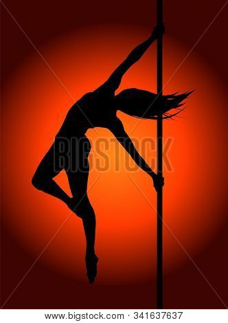 Romantic Dancing Girl In Soft Light. Vector Illustration.