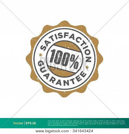 Satisfaction Guarantee Seal Stamp Emblem Vector Template Illustration Design. Vector Eps 10.