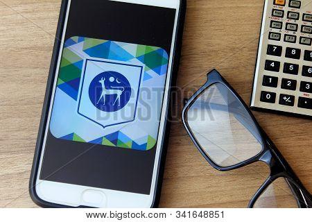 Rio De Janeiro, Brazil - December 22, 2019: Bank Negara Logo On The Mobile Screen. It Is The Central
