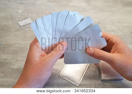 Cases For Plastic Cards. White Cases For Cards.