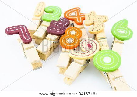 Wooden Clip With Number