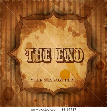 The End. Moving ending screen. EPS 10.