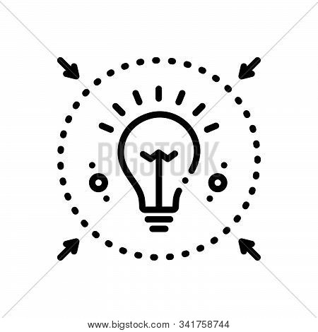 Black Line Icon For Denote  Enlighten  Inform  Intimate  Notify