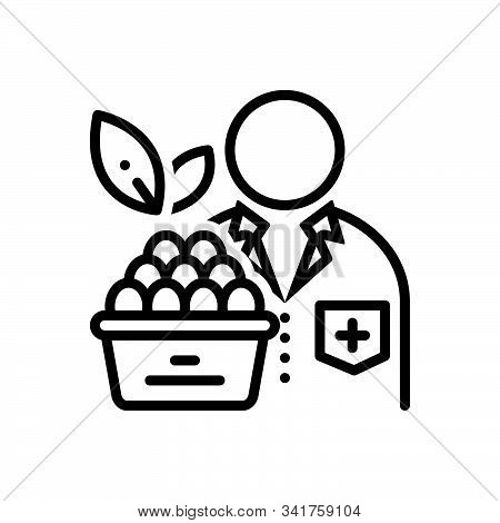 Black Line Icon For Nutritionist  Dietician Diet-consultation Healthcare Doctor Diet