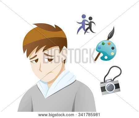 Depression Symptoms Loss Of Interest. Loss Of Interest In Hobbies, Sports And Other Enjoyable Or Ple