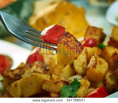 Southwest Roasted Potatoes Flavors Like Red Onions, Bell Peppers, And Spices , Southwest  Cuisine, T