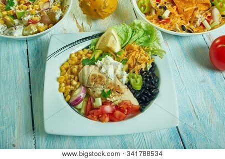 Southwest Salad With Creamy Homemade Dressing