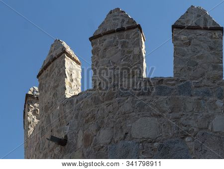 Tower Of The Wall Rampart At Avila, Spain