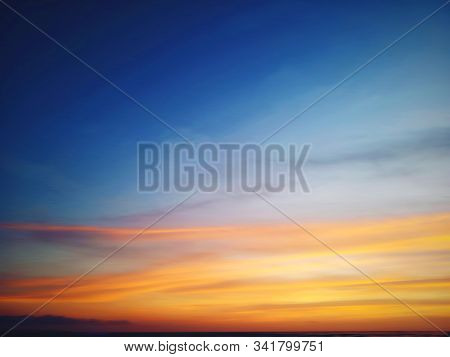 Beautiful Sky Colors View Background. Sky At Magic Hours Background. Colorful Sky Background. Copy S