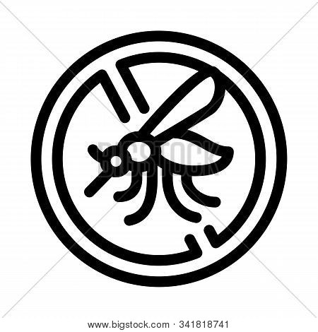 Anti-mosquito Icon Vector. Outline Anti-mosquito Sign. Isolated Contour Symbol Illustration