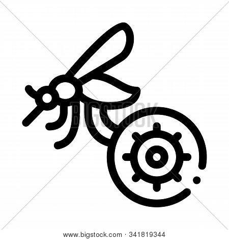 Malaria Mosquito Icon Vector. Outline Malaria Mosquito Sign. Isolated Contour Symbol Illustration