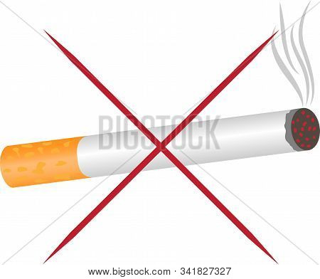 No Smoking Warning Vector Pictogram Sign  Stop Nicotine