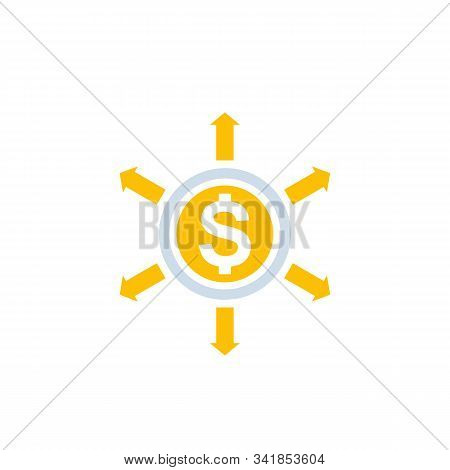 Financial Diversification, Diversified Capital Vector Icon, Eps 10 File, Easy To Edit