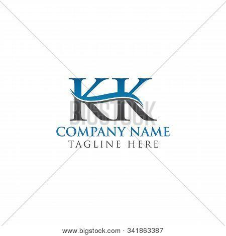 Initial Kk Letter Logo Design Vector Template. Abstract Letter Kk Logo Design