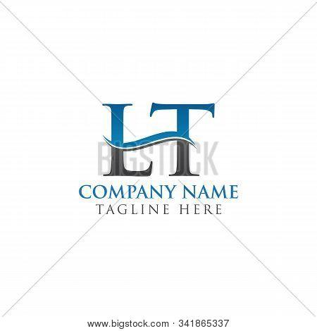Initial Lt Letter Logo Design Vector Template. Abstract Letter Lt Logo Design