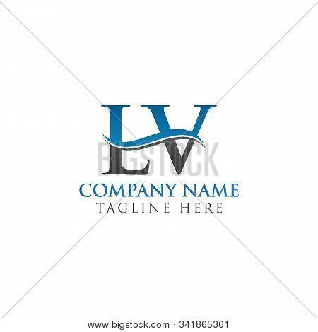 Initial Lv Letter Logo Design Vector Template. Abstract Letter Lv Logo Design